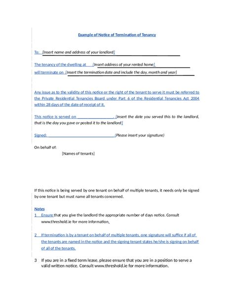 lease termination letter sle template rental pics