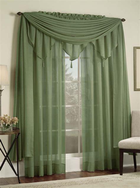 reverie snow voile panels green lorraine casual curtains
