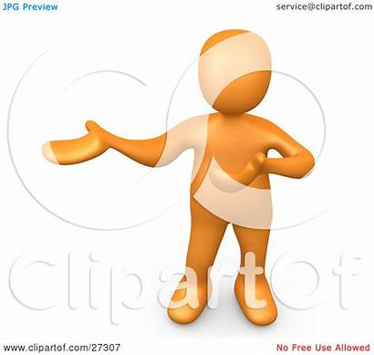Explaining Clipart Person Something Holding Standing Side