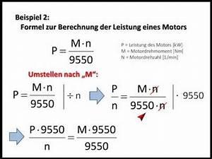 Leistung Eines Motors Berechnen : formeln umstellen youtube ~ Themetempest.com Abrechnung
