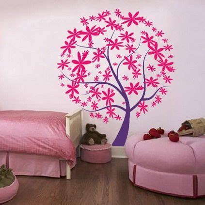 Babyzimmer Wandgestaltung Rosa by Pink And Purple Tree Wall Decals Stickers For Teenagers