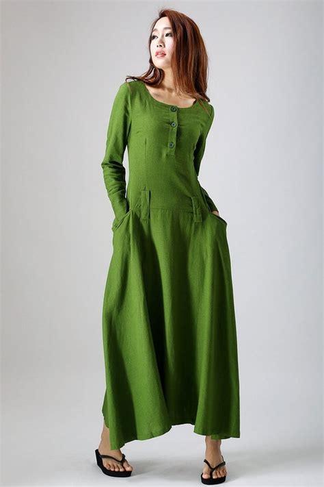 linen dress green dress maxi dress womens dresses spring