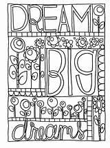 Coloring Doodle Pages Dream Sharpie Printable Journal Adult Colouring Sheets Adults Kid Bullet Google Books Nice Quote Bestcoloringpagesforkids Doodles Patterns sketch template