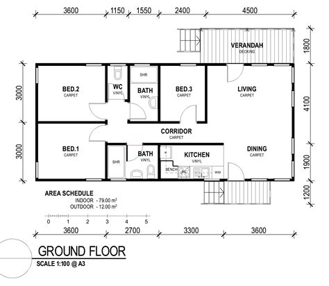 Inspiring Simple Rectangular House Plans Photo by Decor Simple Small 3 Bedroom Rectangular House Plans