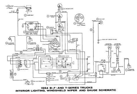 1963 Ford Truck Brake Light Wiring Diagram by Ford B F T Series Trucks 1964 Interior Lighting