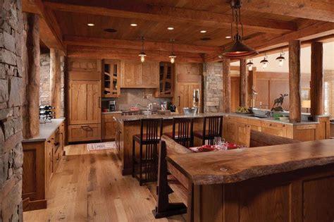 cuisines rustiques bois la cuisine rustique contemporaine au centre des résidences