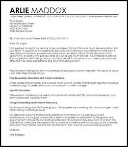 Youth Advocate Resume Exles by Child And Youth Worker Cover Letter Sle Livecareer