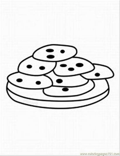 Cookies Cookie Coloring Pages Chocolate Chip Monster