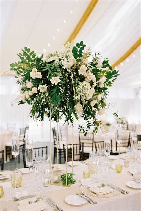 Tall Centerpiece With Greenery Elizabeth Anne Designs