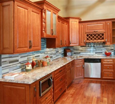 cheap kitchen cabinets and countertops honey all wood maple cabinets overlay 8155