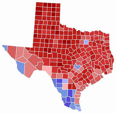 Texas Election County Results Senate Svg States