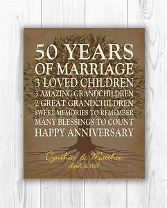 50th anniversary gift for parents anniversary gift golden With 50 year wedding anniversary gift