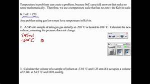 Stp  Combined Gas Law  Ideal Gas Law