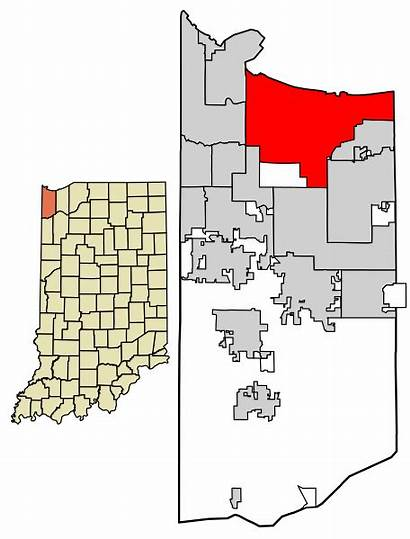 Indiana Lake County Unincorporated Svg Incorporated Highlighted