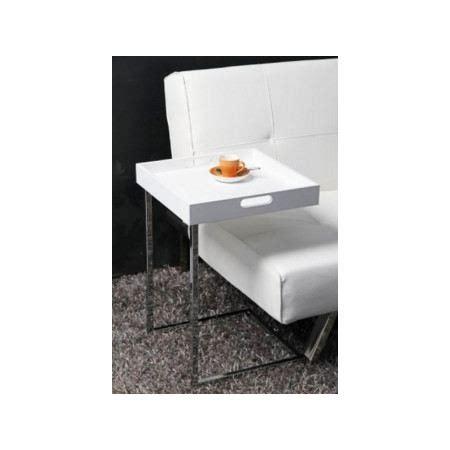 table de canapé table d 39 appoint carrée blanc achat vente bout de