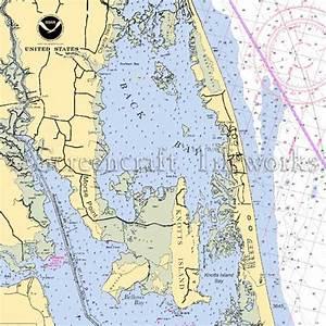 North Carolina - Knotts Island / Nautical Chart Decor