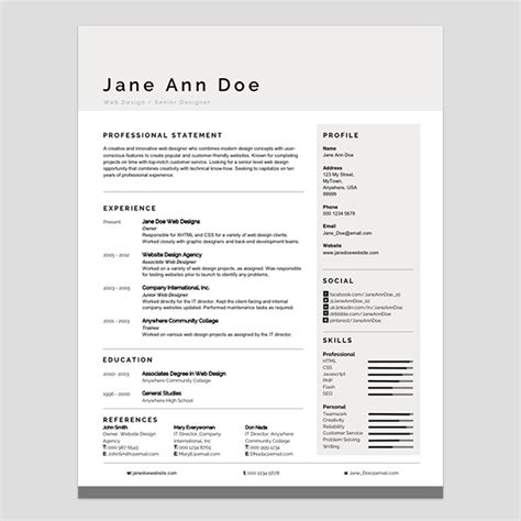 personalize  modern resume template  ms word