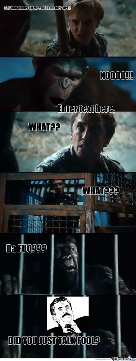 Planet Of The Apes Meme - rise of the planet of the apes by mawass12 meme center
