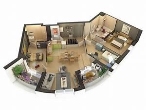 plans de vente 3d pour l39immobilier neuf 3dms With plan d appartement 3d