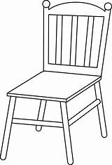 Chair Outline Clipart Line Clipground sketch template