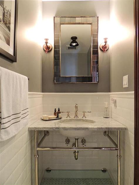 bathroom gray marble subway tiles design ideas