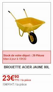 Brouette 2 Roues Brico Depot : prix brouette brico depot construction maison b ton arm ~ Nature-et-papiers.com Idées de Décoration