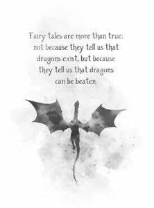 ART PRINT Fairy... Dragon Bible Quotes