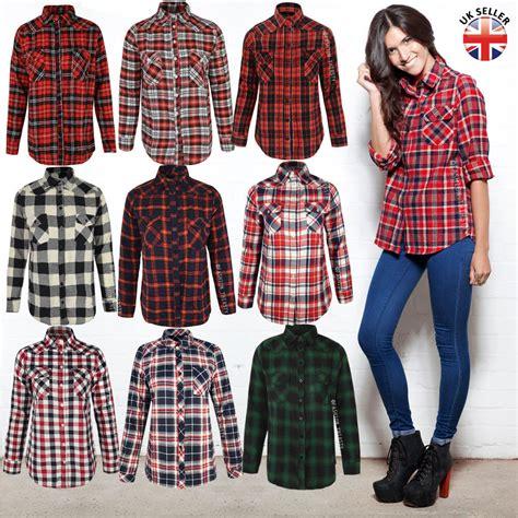 Ladies Womens Check Shirt Lumberjack Long Sleeve Flannel