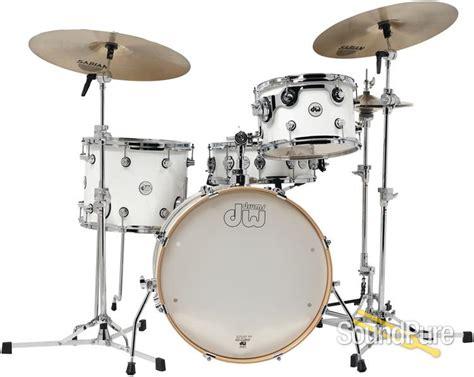 dw design series dw 4pc design series frequent flyer drum set kit gloss white