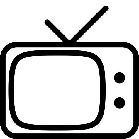 retro tv icon   png  vector