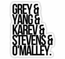 """""""Grey's Anatomy"""" Stickers by pamelo 