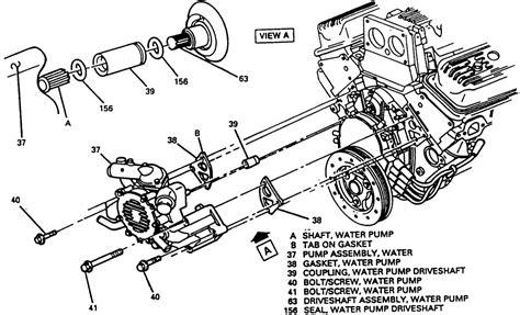 engine diagram for a 1994 chevy silverado 5 7 liter