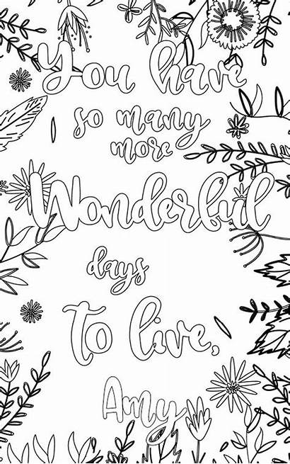 Amy Adult Personalized Coloring Pages Touch Feel