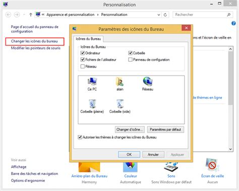 icones bureau windows 8 bureau de windows et raccourcis aidewindows
