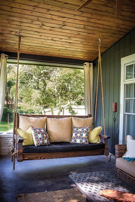 front porch swings ideas  pinterest southern