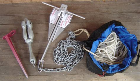 Boat Anchor Set Up by Boat Anchor System Small Boat Anchors Ropes And Hardware