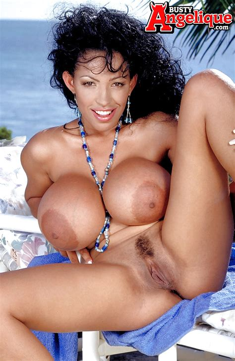 Mature Latina Busty Angelique Exposing Monster Tits