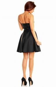 black faux leather skater dress km km00528 idresstocode With robe imitation cuir