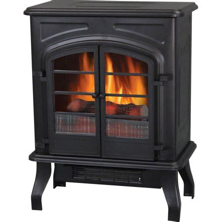 electric fireplace heater walmart electric stove heater 17 5 quot matte black walmart