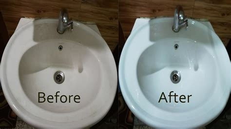 How To Clean Wash Basin-remove Hard Water Stains