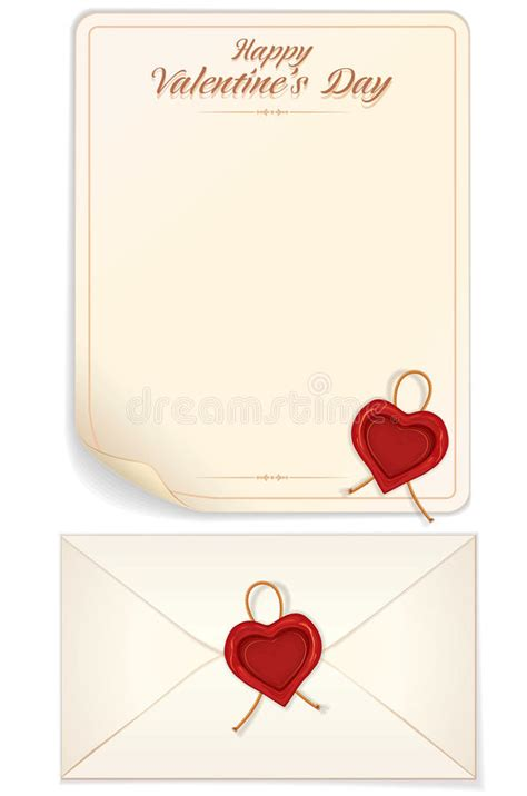 valentine day love letter print template royalty