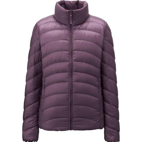 ultra light down jacket uniqlo women ultra light down jacket in purple lyst