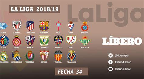 Chezmaitaipearls: La Liga Tabla De Posiciones 2018