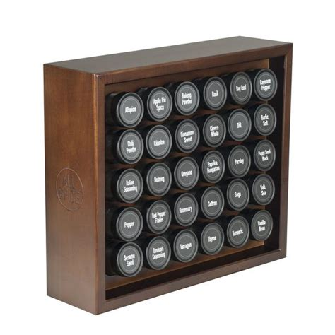 30 Spice Rack by Large Wooden Spice Rack 30 Glass Spice Jars Included