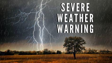 severe thunderstorm warning  heavy rain  damaging