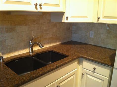 granite countertop and backsplash