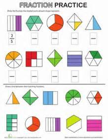 fraction practice for 4th grade fraction review worksheet education