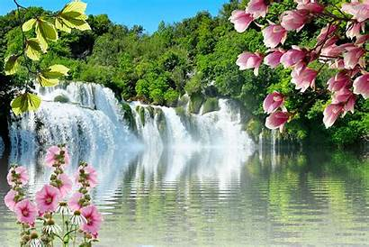 Waterfall Water Landscape Nature Waters Mood Pixel