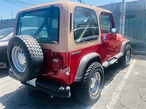 1987 Jeep Wrangler Manual Transmission Red  Tan Beautiful