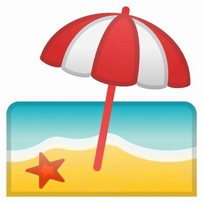 Emoji Icon Umbrella Spiaggia Sol Guarda Playa
